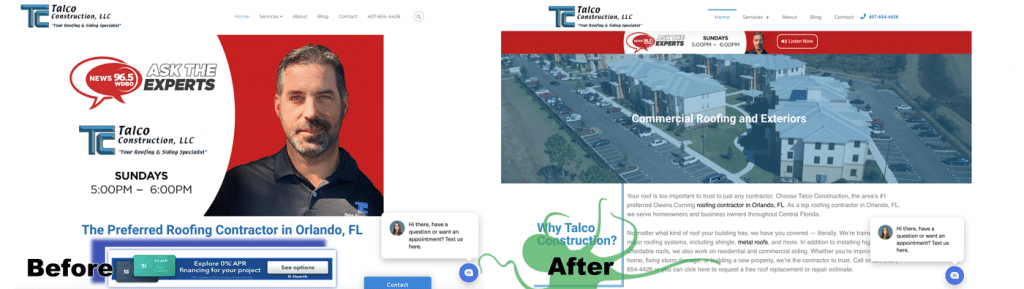 talco before after